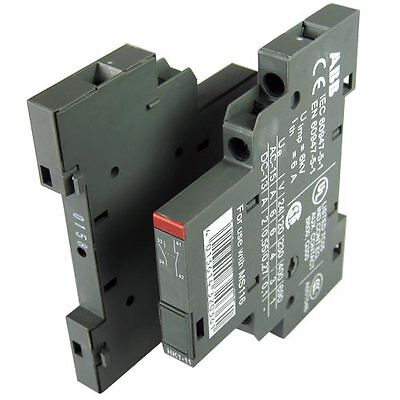 2x ABB  1 NO & 1 NC Auxiliary Contact Blocks 6A Circuit Breakers HK1-11