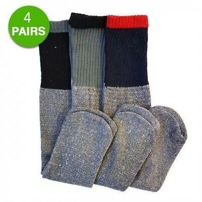 Thermal Snow - 4 pair Men's Thermal Socks Warm Winter Skiing Snow Cold Weather Gear size 10-13