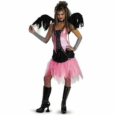 Cemetery Angel Halloween Costume (Graveyard Fairy Angel Halloween Costume Adult Women Size 12-14 Cosplay Dress)