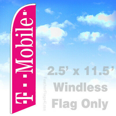 T-mobile Windless Swooper Flag 2.5x11.5 Feather Banner Sign - Pb