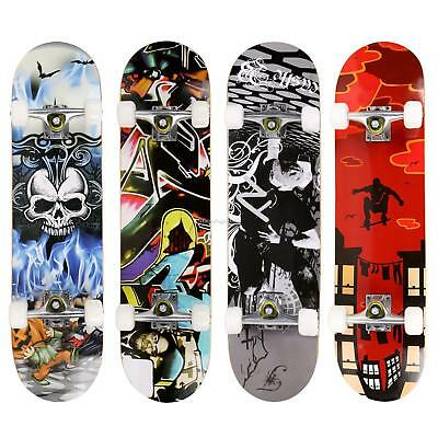 "Fashion Print Wood Board Deck Complete Skateboard 31""x8"" Adult Street Board"