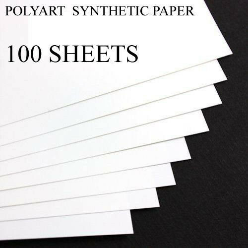 POLYART SYNTHETIC  PAPER 8.5 X 11 100 SHEETS WATER/TEAR RESISTANT IVORY COLOR