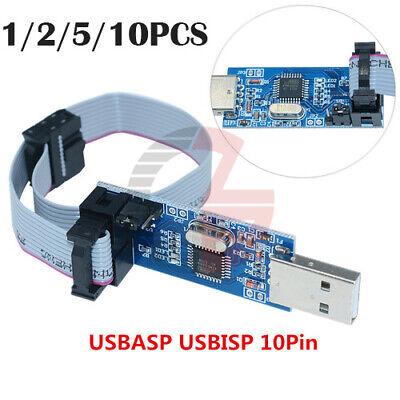 1-10pcs Usbasp Usbisp Avr Programmer Cable 10pin Atmega8 Atmega128 For Arduino