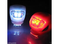 2 LED Bike Silicone Front & Rear Safety Lights