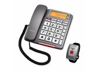 BRAND NEW BOXED SILVER CREST BIG BUTTON PHONE WITH EMERGENCY CALL FUNCTION