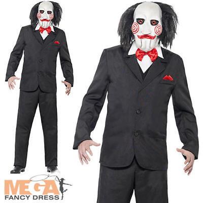 Jigsaw Kostüm (Saw Jigsaw Puppet Halloween Mens Fancy Dress Party Horror Movie Adult Costume)