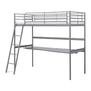 Ikea bunk bed with desk twin
