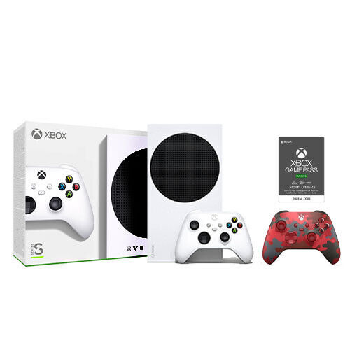 Xbox Series S 512GB SSD + Daystrike Camo Controller + Game Pass Ultimate 1 Month