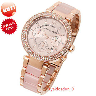 Michael Kors Women's Chronograph Parker Stainless Steel Bracelet Watch