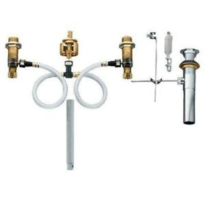 NEW Moen 69000 M-Pact Valve Rough-In Lavatory Valve with Drain Assembly - Whirlpool