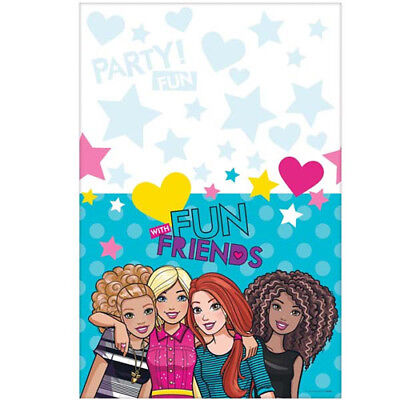 Barbie Decorations (BARBIE AND FRIENDS PLASTIC TABLE COVER ~ Birthday Party Supplies Decoration)