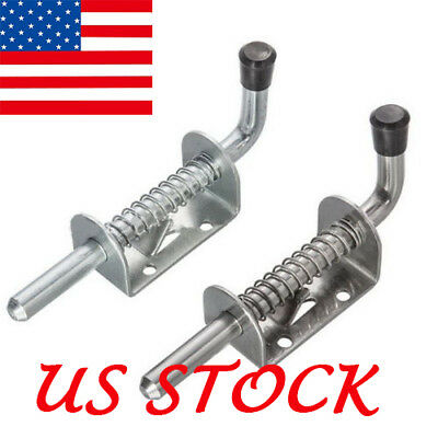 US Stainless Steel Iron Spring Pin Latch Lock Assembly for Utility Trailer Gate Steel Gate Spring