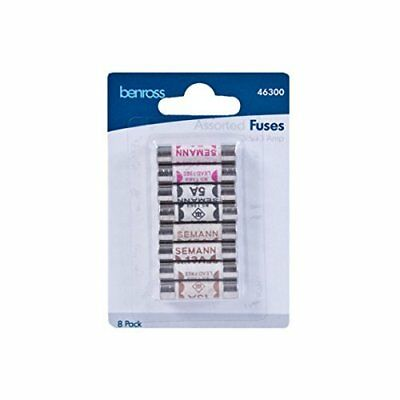 Domestic Household ceramic mixed fuses 3amp - 5amp - 13amp - 8 pack