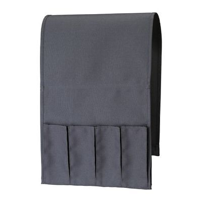 IKEA FLORT Remote Control Holder Sofa Armchair Pockets Organizer- Black- NEW