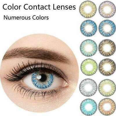 1 Pair Natural UV Protection Colorful Contact Lenses Cosplay Eyewear Makeup Tool
