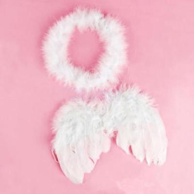 Cute Cupid Costume (Monthly Baby Cute Cupid Feather Wing Photo Props Costume Photography Supplies)