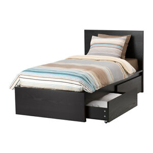 IKEA Product - Size:TWIN - MALM Bed Frame & MORGEDAL Mattress