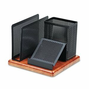 Rolodex Cherry Wood Desk Organizer