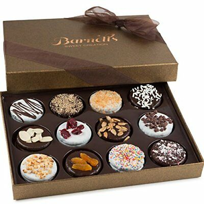 Elegance Cookie Gift Box (Gift Basket Chocolate Cookies Day Box Gifts 12 Delicious Flavors Unique)