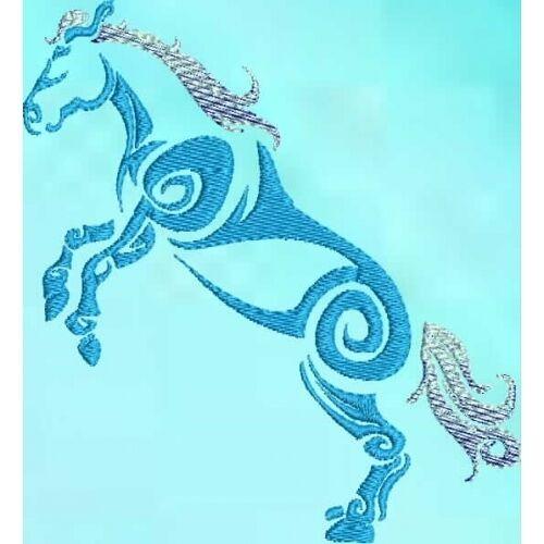 Embroidered Sweatshirt - Tribal Horse S1-04 Sizes S - XXL
