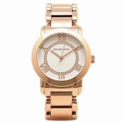 MICHAEL KORS MK3530 Rose Gold Tone Pave Stainless Steel Watch NWT $225