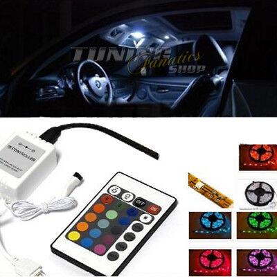 4er RGB LED SMD Innenraumbeleuchtung Fußraumbeleuchtung SET für viele Fahrzeuge (Remote Control Light Bulb Farben)