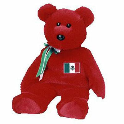 TY Beanie Buddy - OSITO the Mexican Bear  - MWMTs Stuffed An