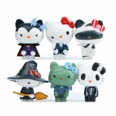 Cute Doll Halloween (6PC Cute Hello Kitty Figures Toy Doll Collection Halloween Set)
