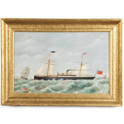 Vintage Nautical Decor Sale: Antique Nautical Painting