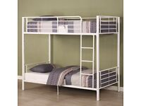 superb offer* Brand New 2FT Single Metal Bunk Bed in Silver Colour- Mattress Optional . call now