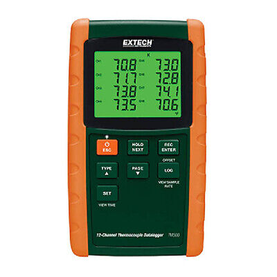 Extech Tm500 12-channel Datalogging Thermometer W6 Thermocouple Types