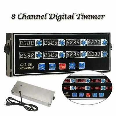 Commercial 8 Channels Kitchen Restaurant Timer Loud Alarm Cooking Calculagraph