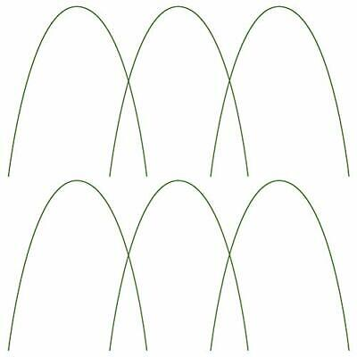 6 Pack Metal Garden Support Stakes Bendable Greenhouse Hoops for Plant Cover