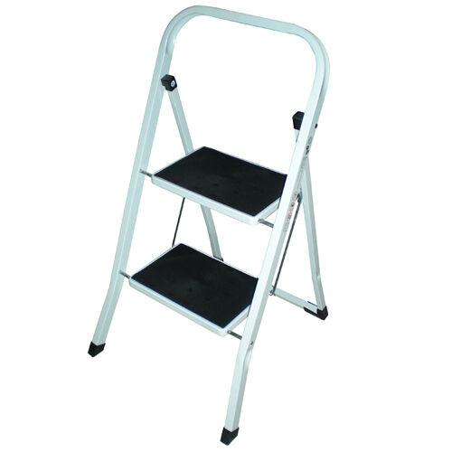 Foldable 2 3 Amp 4 Step Steel Ladder Non Slip Tread