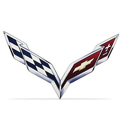 C7 Corvette Crossflag Wall Emblem Large Metal Art 2014 2015 40