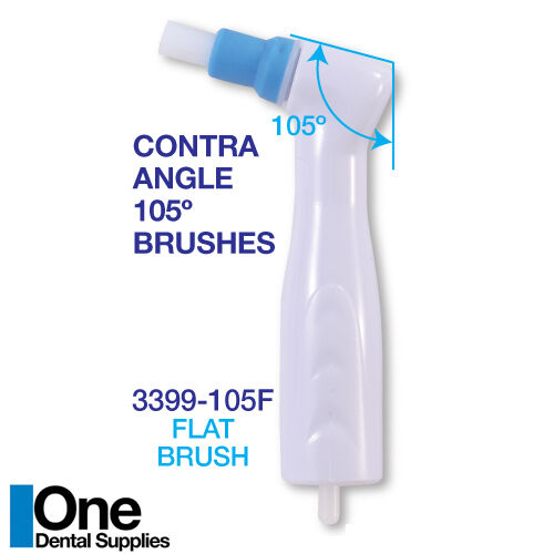 Dental Disposable Prophy Angles - Flat Brushes 100 pcs