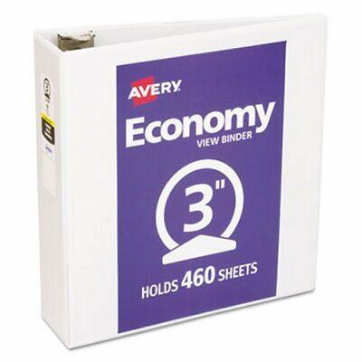Avery Economy Vinyl Round Ring View Binder 3 Capacity White Ave05741