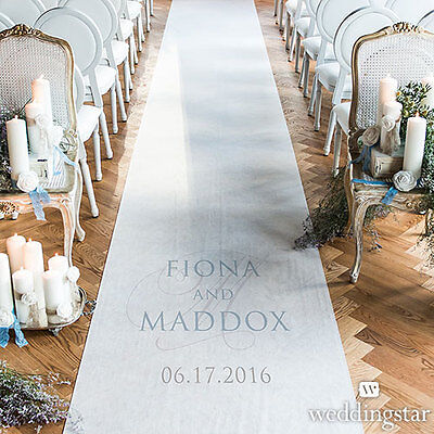 Contemporary Vintage PERSONALIZED Aisle Runner Wedding Ceremony Decoration  - Personalized Wedding Aisle Runner