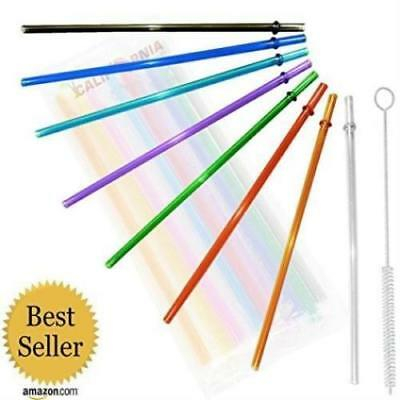 Rainbow Colored Replacement Acrylic Straw Set Of 8, For 16Oz, 20Oz, 24Oz - Rainbow Colored