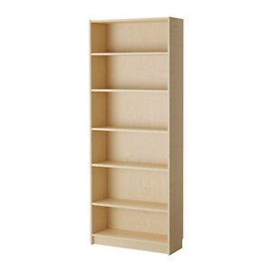 2 IKEA BILLY BOOKCASES & GNEDBY CD TOWER-BIRCH