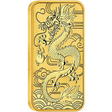 2018 1 oz Australian Rectangular Gold Dragon Coin (BU)