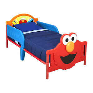 Sesame Street Toddler Bed with Toddler Mattress NEVER USED