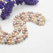 Multicolor Akoya Pearl Necklace