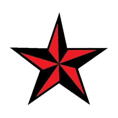 Tattoo Nautical Stars (Red Nautical Star Temporary Tattoo: 2 medium tattoos Made in the USA )