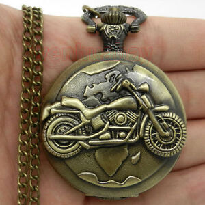 MOTORCYCLE POCKET WATCH (New )