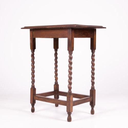 Antique oak lamp table ebay for Z oak lamp table