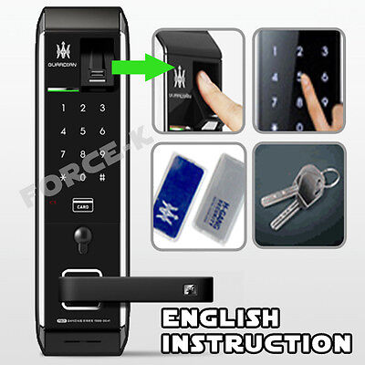 Biometric Fingerprint Doorlock TM900-KV Digital Keyless Lock Pin+RFID+Mechanical
