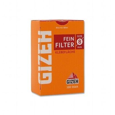 60x 100er GIZEH FEIN FILTER 8mm FEINFILTER