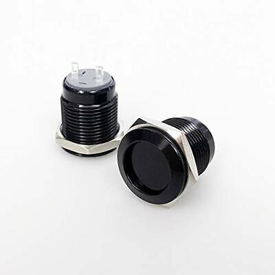 Latching Metal Push Button Switch 16mm Waterproof On Off Switch 12v 2pcs