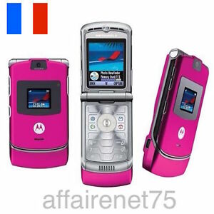 t l phone portable motorola razr v3 rose pink d bloqu. Black Bedroom Furniture Sets. Home Design Ideas